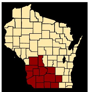 Wisconsin counties where we insure.